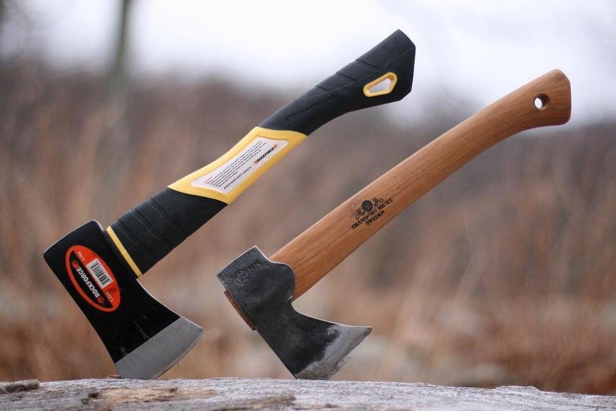 Survival axe with different handles