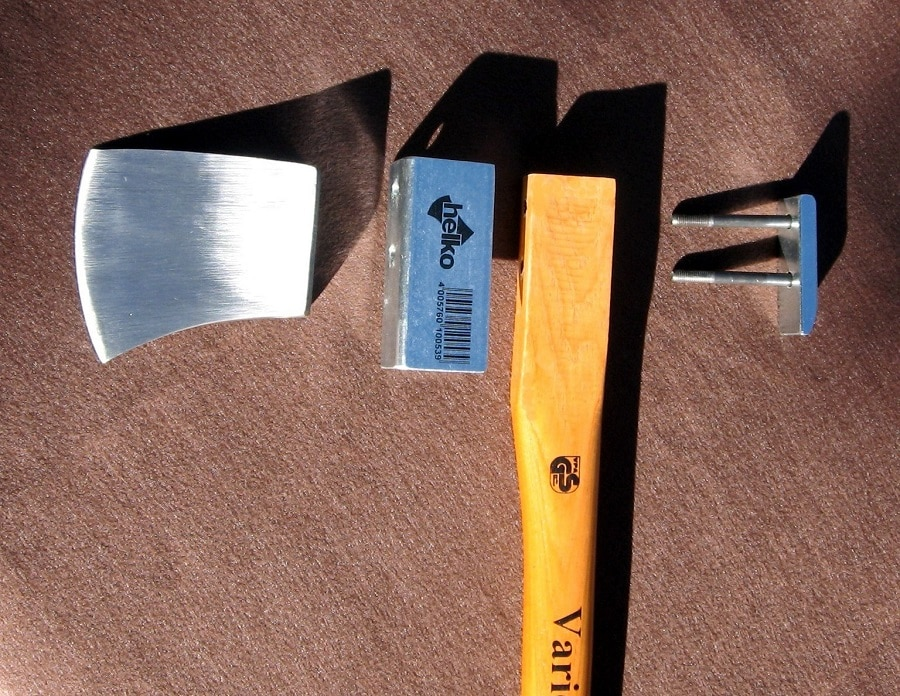 Survival axe head parts