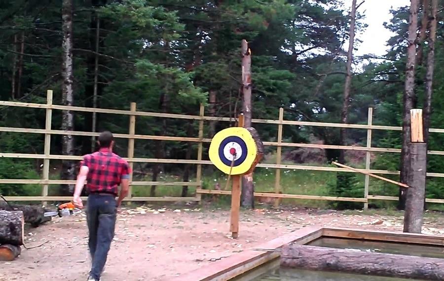 Tomahawk throwing ranges