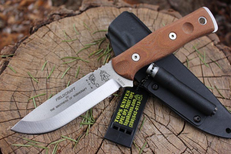 Artistic image of a bushcraft knive