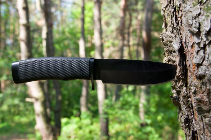 Hunting-Knives in a tree