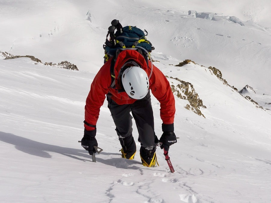 Man with ice axe