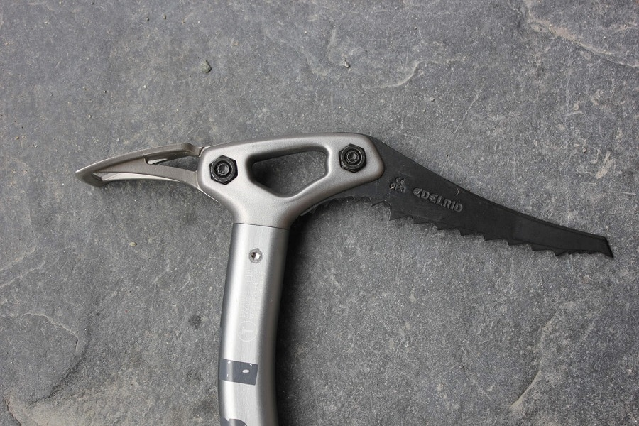 Material of the ice axe