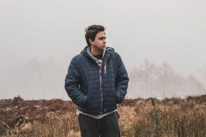 Person Wearing Down Jacket