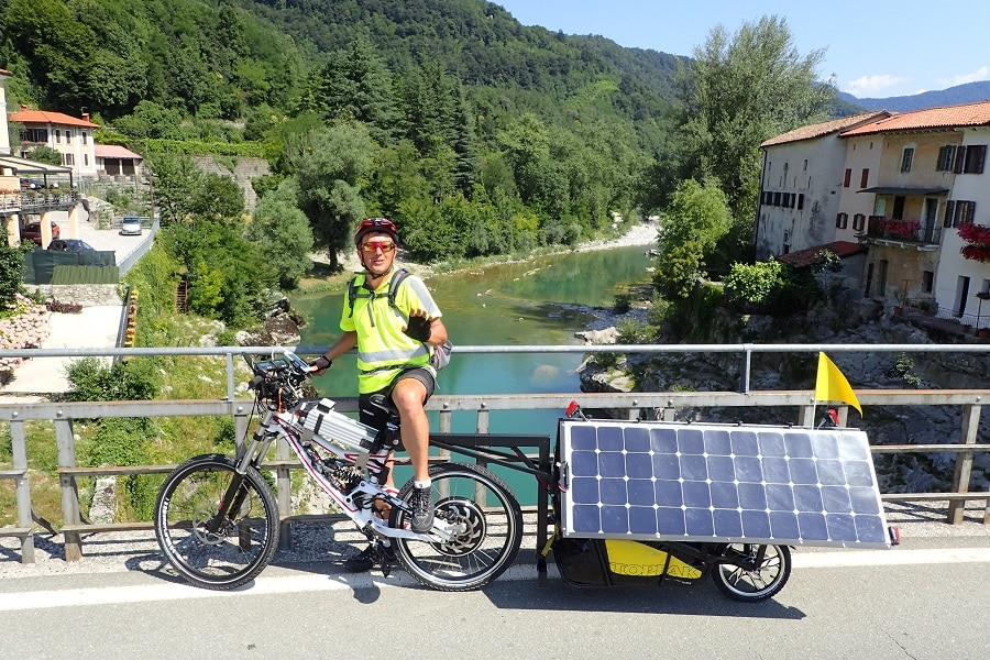 Riding on A Solar Powered Bicycle