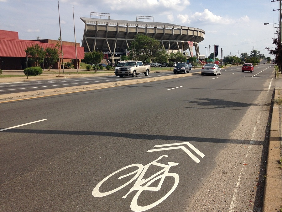 Lanes made just for non motorized vehicles