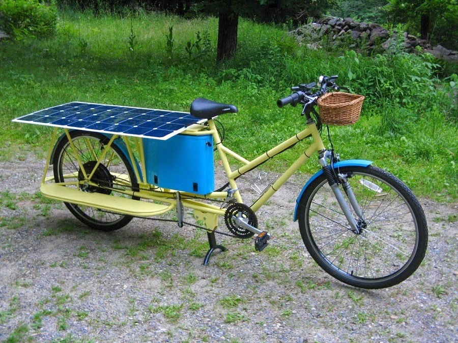 solar powered bicycle travel under the power of the sun. Black Bedroom Furniture Sets. Home Design Ideas