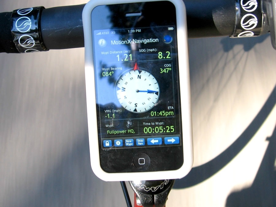 Bike GPS in action