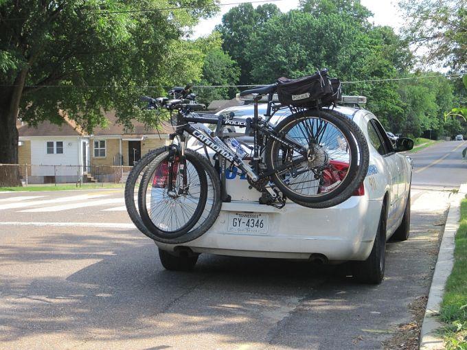 Bikes on a car