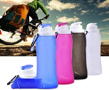 Collapsible Water Bottle Silicone Outdoor Water