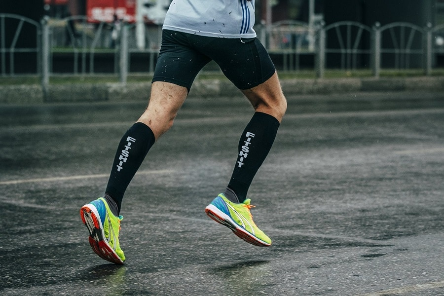 Compression Socks in action
