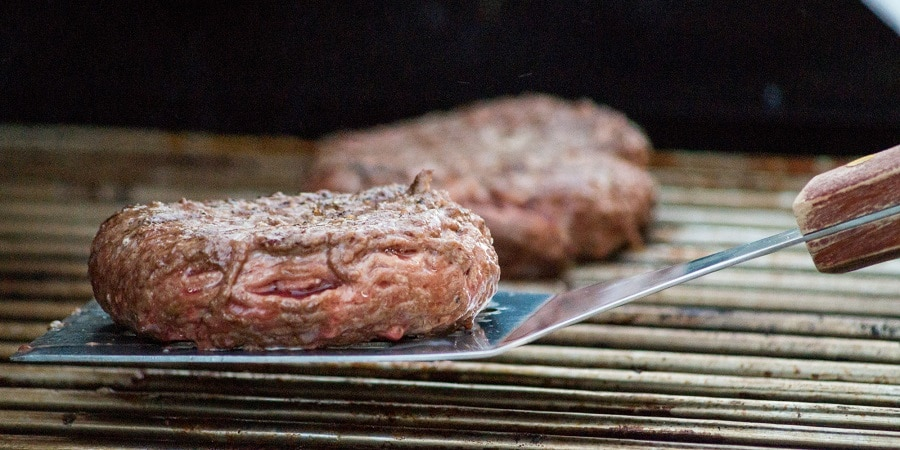 Grilled-cooked hamburgers