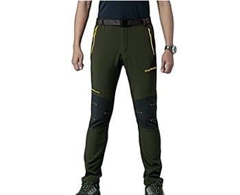 King Shield Men's Mountain Windproof Ski Pants Soft Shell Pant