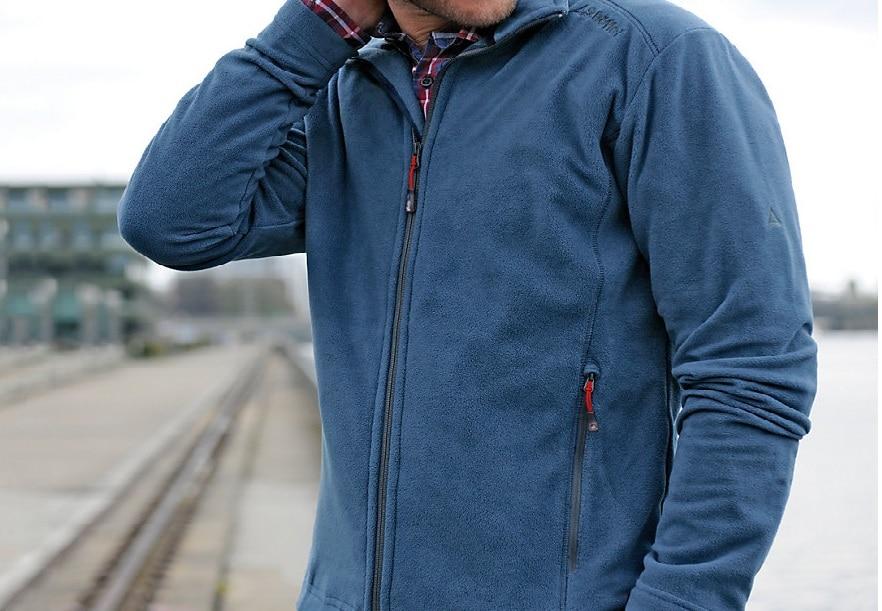 Man with fleece jacket