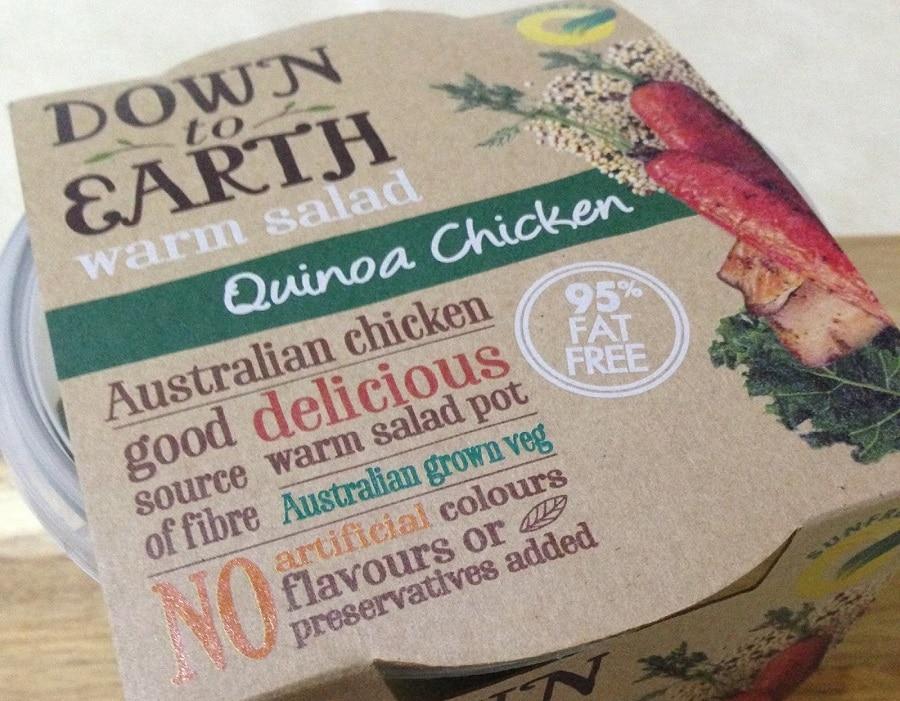 Quinoa salad for camping