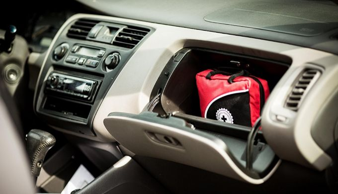 First Aid Kit in car