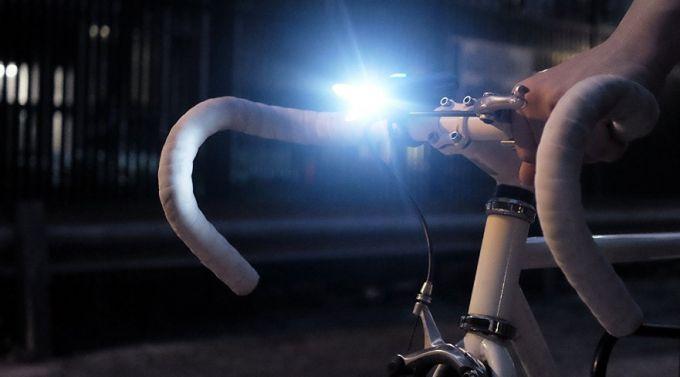 bike light in the dark
