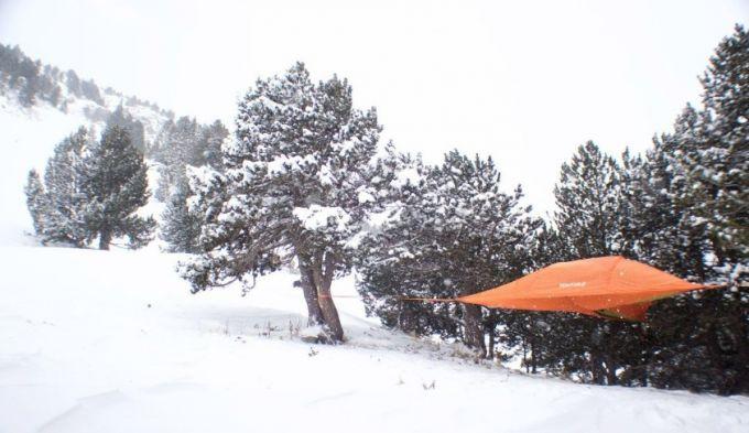 Hammock Tent in winter