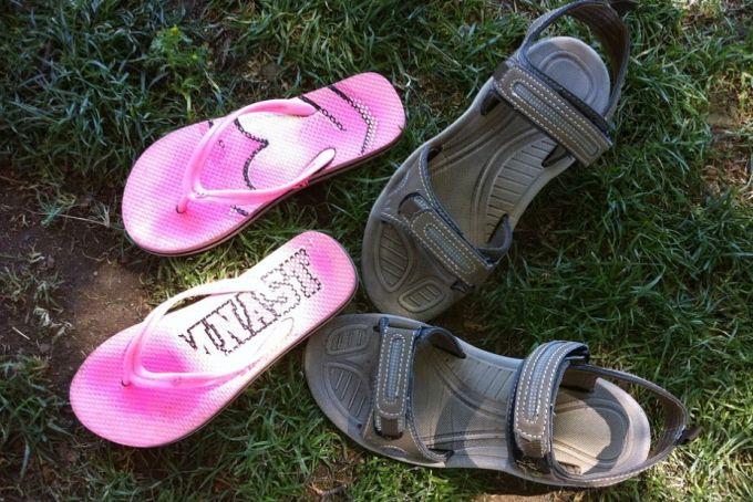 sandals and flip flops