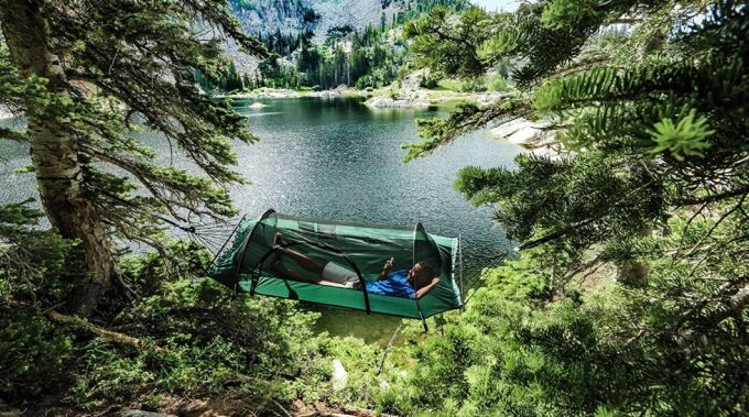 Hammock Tent near lake