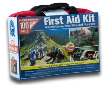 Small First Aid Kit 100 Piece Car, Home, Survival