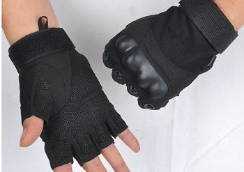 Sporty Tactical Fingerless Gloves