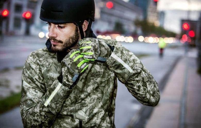 Camouflage softshell jacket