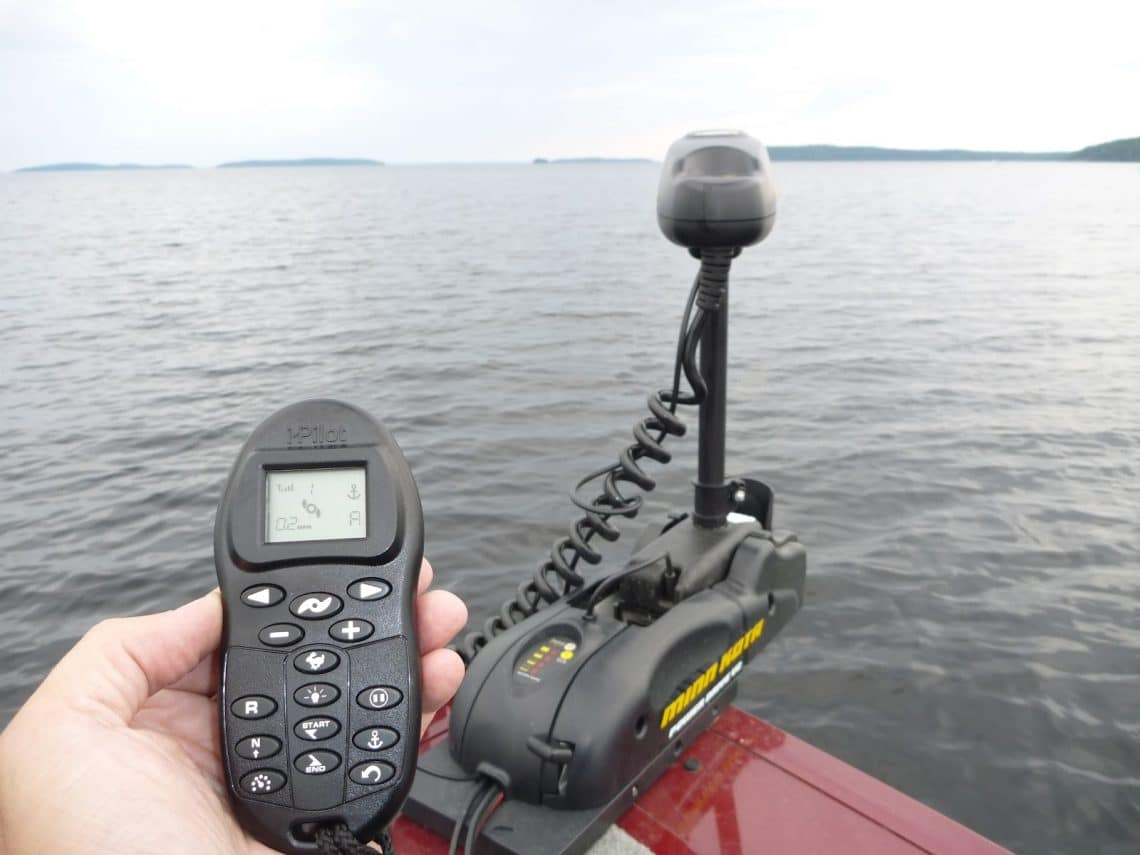 Fishing GPS in the hand