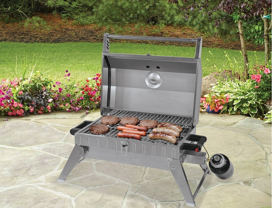 Gas grill ready for your adventure