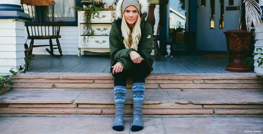 Grey Skiing socks