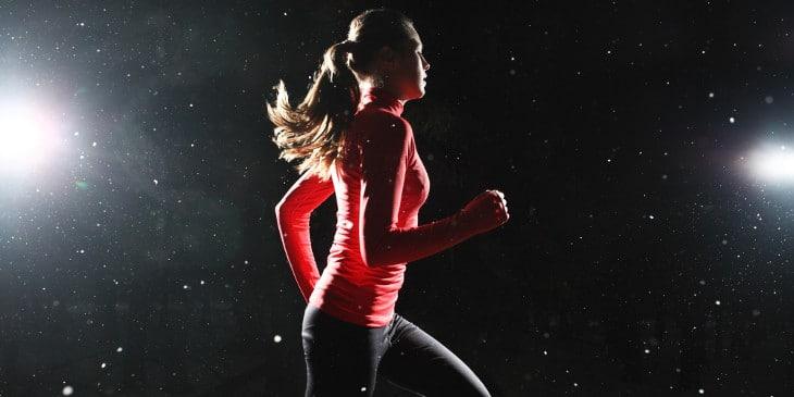 Night running during winter
