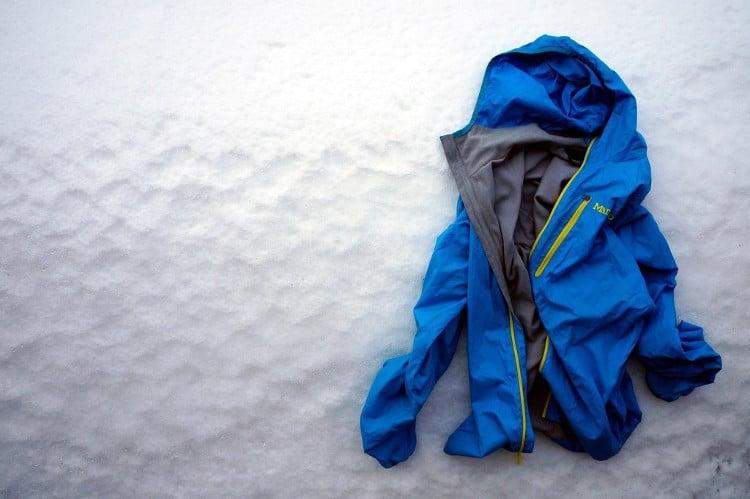 Softshell on snow