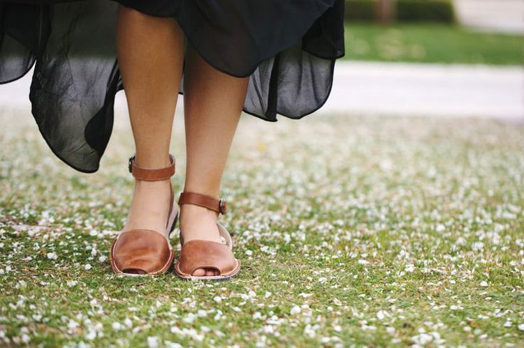 Walking on sandals