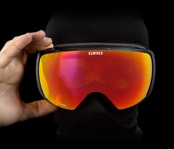 Wearing Giro Contact goggles