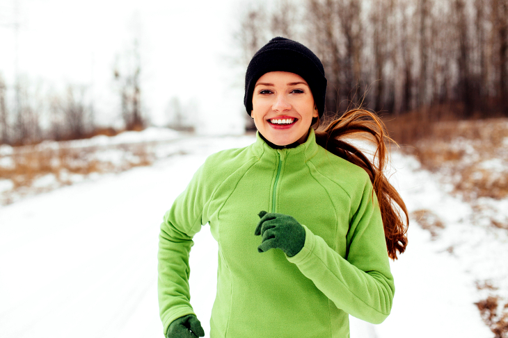 Winter running jacket minimalist design