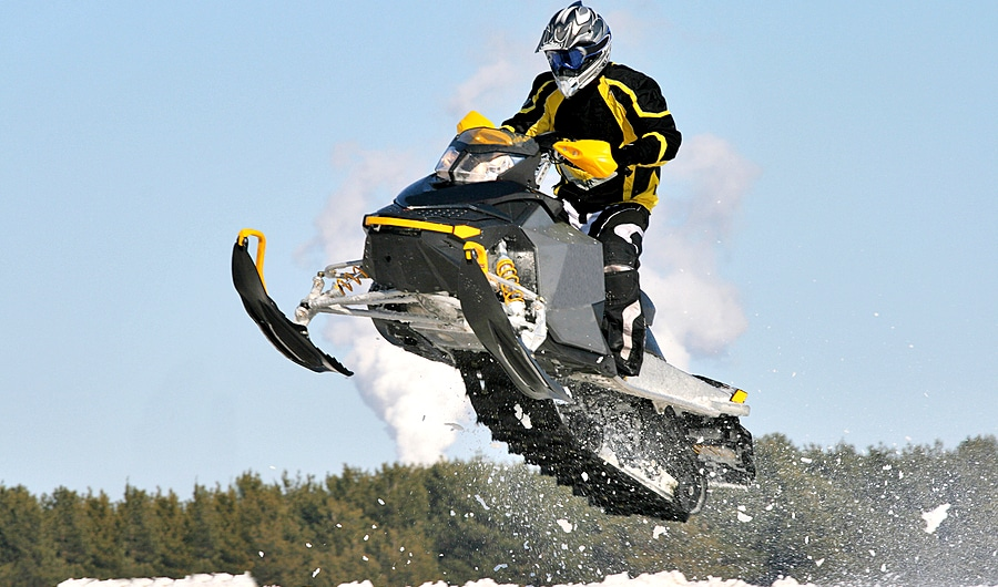 rev for snowmobile jump