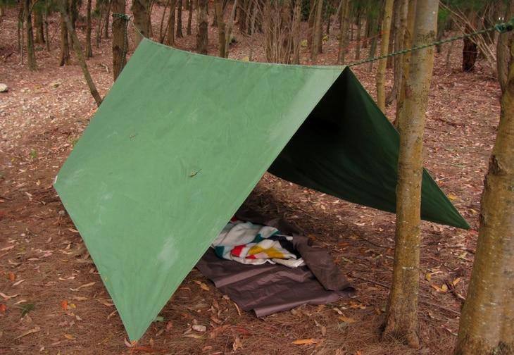 A frame tarp