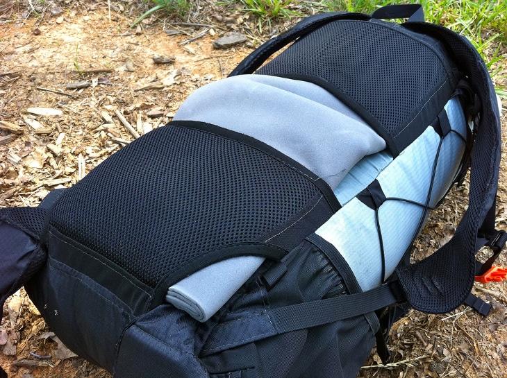 Backpack back support