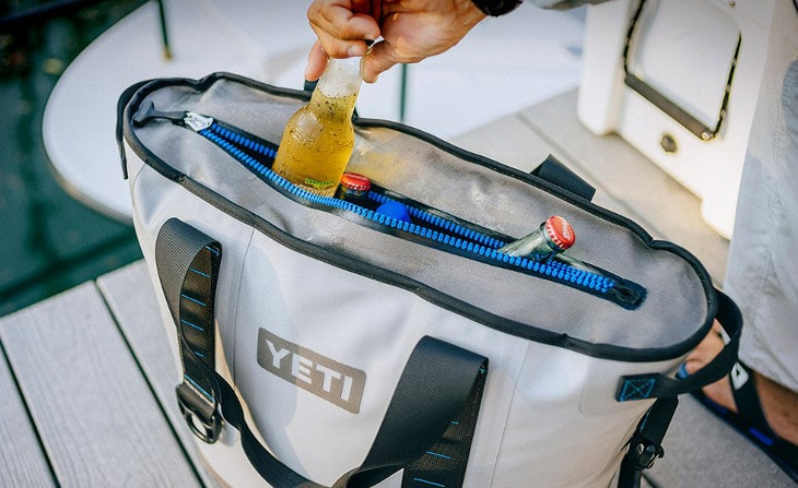 Beverage from cooler bag