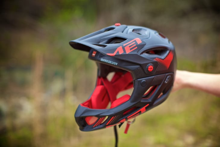 Black full face MTB helmet