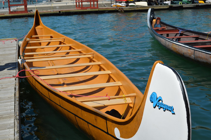 Canoe on docks