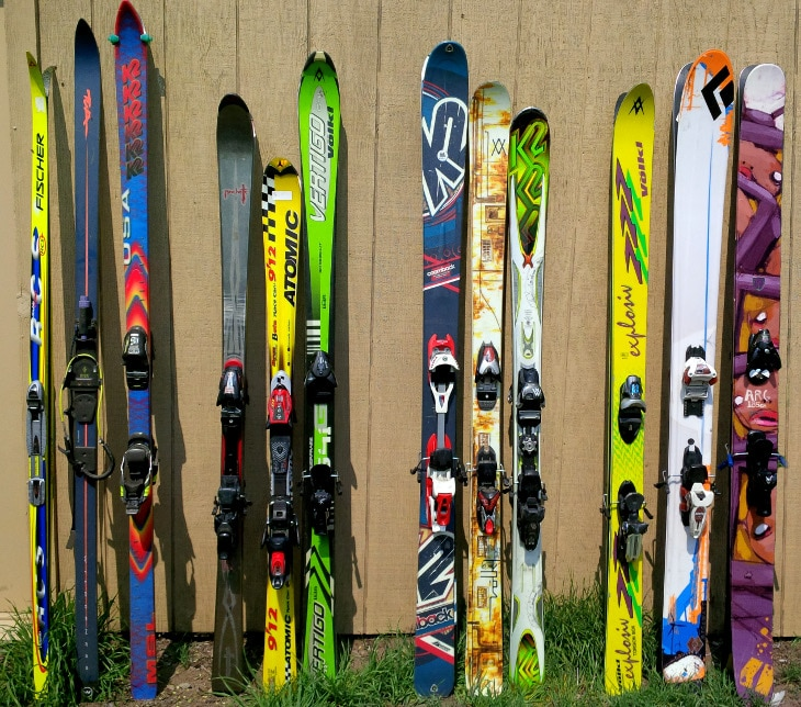 Collection of skis