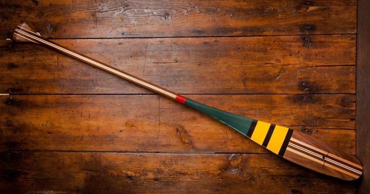 Colorful canoe paddle