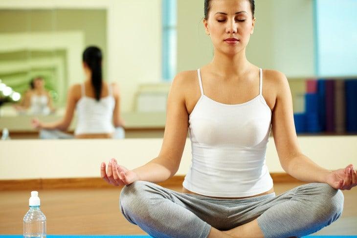 Comfortable meditation yoga posture