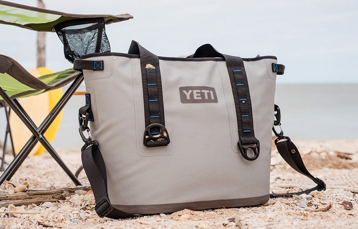 Cooler bag on beach