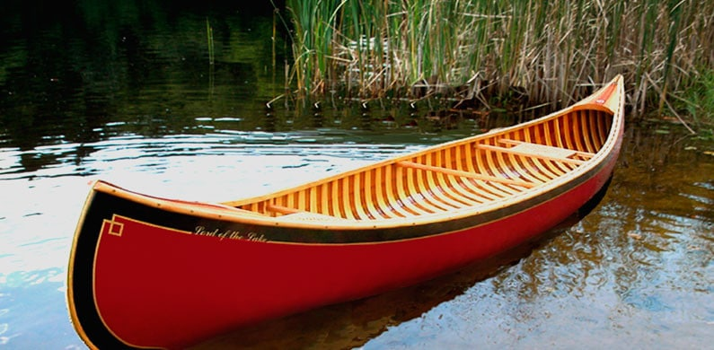 Custom built canoe