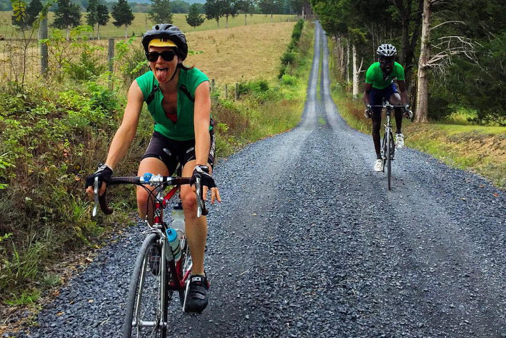 Cycling on unpaved road
