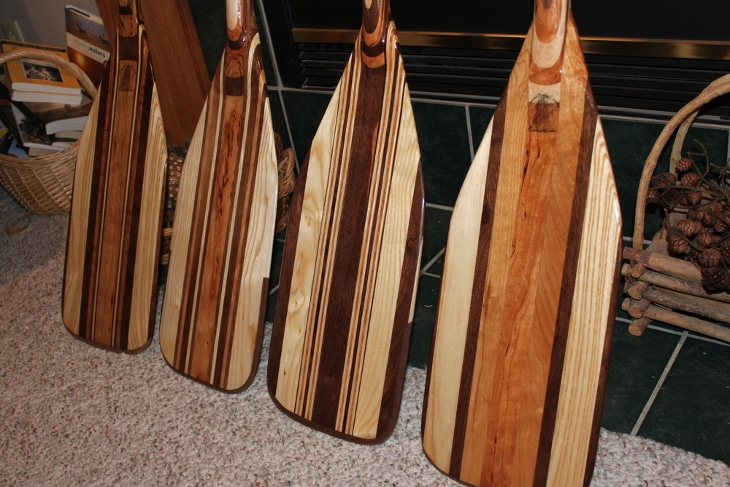 Designed canoe paddles