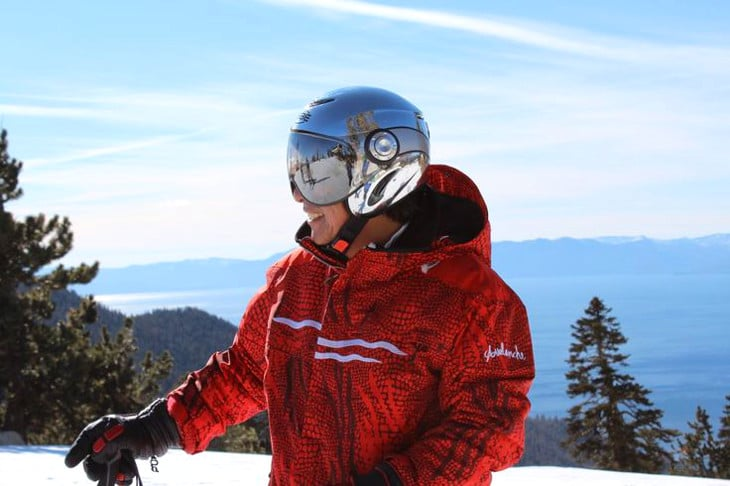 Fitted ski helmet