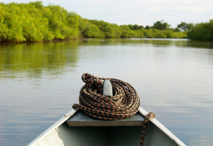 Front view canoe